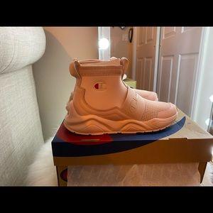 Light Pink Champion slip on sneakers